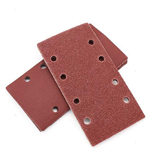 10 Stück 185x95mm 8 Loch Quadratisches, beflockendes Schleifpapier selbstklebendes Schleifpapier Poröse Samtscheibe mit Körnung Körnung 40/60/80/120/150/180~800.100