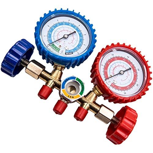 YAOSHI Detector de Fugas de Gas Conjunto de manómetros HVAC AC Prueba de refrigeración 5 pies de Carga Hoses R134A R12 R22 Detector de Fugas de refrigerante