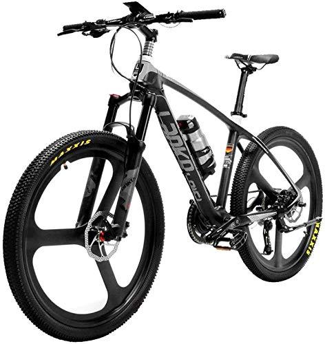 WJSWD Bicicleta de nieve eléctrica, súper ligera de 18 kg de fibra de carbono eléctrica PAS bicicleta eléctrica con freno hidráulico Altus batería de litio para adultos