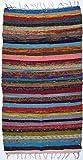 Guru-Shop Alfombra de Patchwork con Upcyceling Grosero 180x95 cm, Algodón, Alfombras y Tapetes
