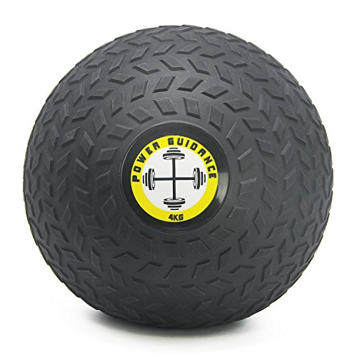 POWER GUIDANCE Slam Ball Balón Medicinal Antideslizante Ideal para los Ejercicios de Functional Fitness - 5kg