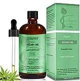 Olio di semi di canapa, 100ml, 100% pressato a freddo, non raffinato, biologico, puro e naturale, previene l'invecchiamento prematuro, restringe e riduce i pori dilatati, combatte l'acne