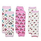 Dotty Fish Stulpen im Multipack für Babys & Kleinkinder. Mädchen. 3er-Pack mit Kirschen, Erdbeeren & Blumen. Universalgröße