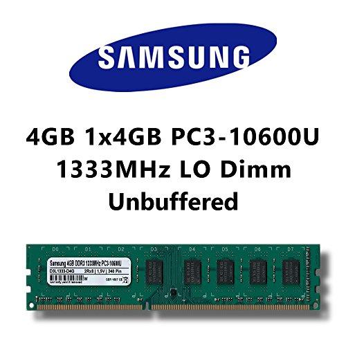Samsung 4GB (1x 4GB) DDR3 1333MHz (PC3 10600U) LO Dimm Computer PC Desktop Arbeitsspeicher RAM Memory