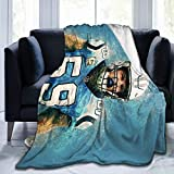 Nanabang Luke Kuechly Soft Micro Fleece Blanket Fit Bed Couch Blankets for Kids Adults 80'X60'