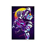 Retro Canvas Wall Art Dio_Brando_Retro Frameless Painting Prints Photos Poster ,Ready to Hang, for Home Decor 16'x20'