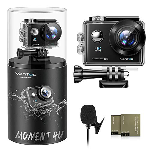 VanTop Moment 4U 4K Action Camera 20MP Underwater Waterproof Camera with EIS,...