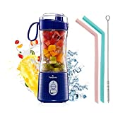 Portable Personal Blender for Smoothie and Shakes - Vaeqozva 6 Powerful 3D Blades 4000mAh USB...