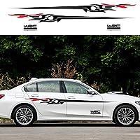 オートカーサイドバックデカールステッカー車ドレスアップ For Audi A4 A3, For Dacia Duster Logan, For Dodge Charger, For Acura TSX RSX