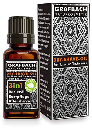 Grafbach 3in1 Rasieröl, SHAVING OIL, Bartöl Bartpflegeöl, Aftershave, Made in Germany