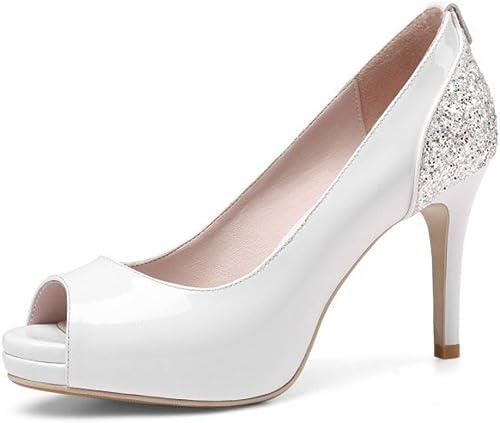 Talons Hauts pour Femmes Sandales à Paillettes Chaussures à Talons Hauts TempéraHommest Chaussures De Soirée