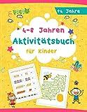 (4-8 Jahren) Aktivitätsbuch für Kinder: Tolles Aktivitäten Buch für Kinder, Malvorlagen | labyrinth | sudoku | Rätsel | punkt zu punkt, ideal für Kindergarten, Geschenk.