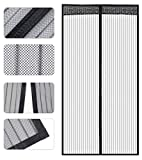 Store2508 Polyester Mesh Mosquito Screen Curtain with Magnets for Main Doors/Balcony Doors/Kitchen Doors (100 * 215 Cms, Black)