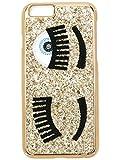 CHIARA FERRAGNI Cover Compatibile iPhone - Glitter Oro - Compatibile con iPhone 6 / 6S - Stile Italiano