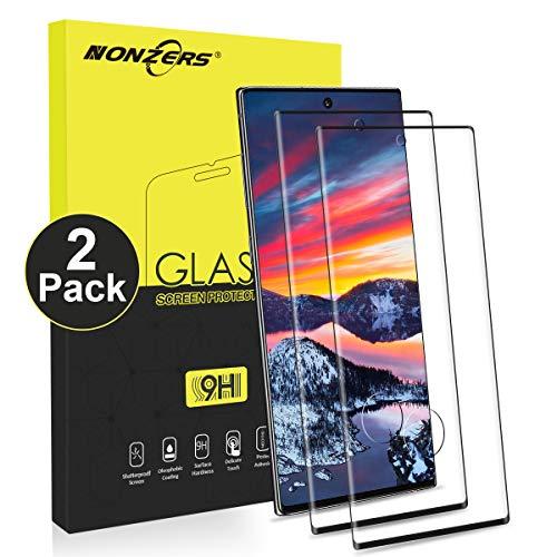 NONZERS Verre Trempé pour Samsung Galaxy Note 10, [2 Pièces] Dureté 9H Film Protection Écran, 3D Couverture Complète, Sans Bulles, Verre Trempe Note 10, Compatible 3D Touch, Vitre Galaxy Note 10