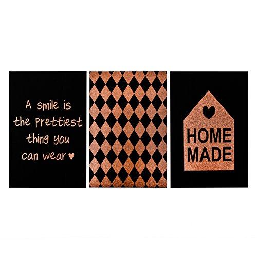 Kaarten ansichtkaarten set van 6 verschillende Formaten kraftpapier ontwerp zwart (Home Made)