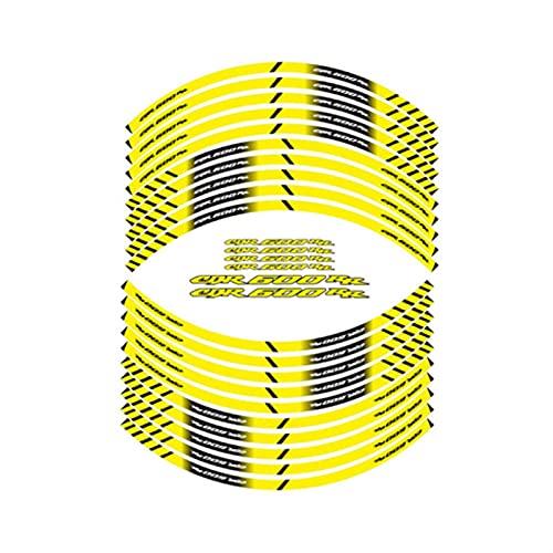 Neumático de la Motocicleta Pegatinas Reflectantes de Las Rayas de Ruedas Interiores calcomanías de decoración para Honda CBR600RR CBR 600 RR (Color : Yellow)