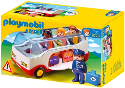 Playmobil 6773 1.2.3 Airport Shuttle Bus, For Children Ages 18 Months