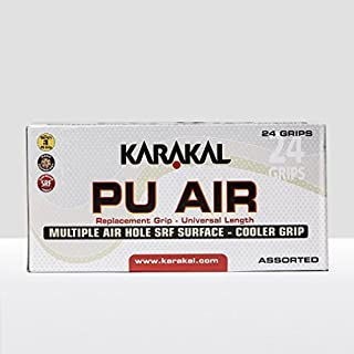 Karakal PU Super Air Box 24 Squash Grip-Assorted Colors
