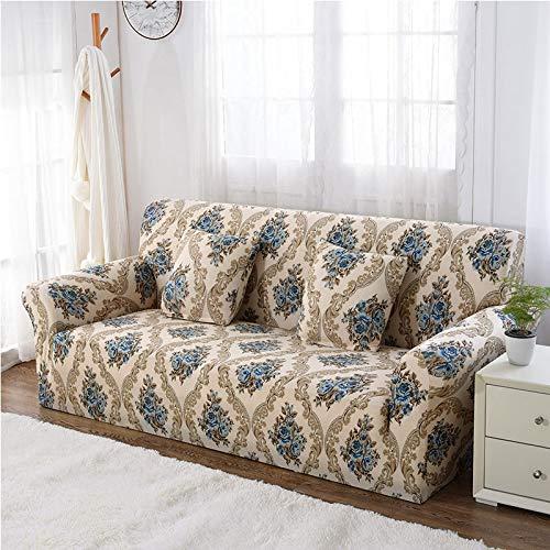Cubierta seccional elástica elástica, Cubierta de sofá Todo Incluido para Sala de Estar, Cubierta de sofá en Forma de L, Loveseat A23, 3 plazas