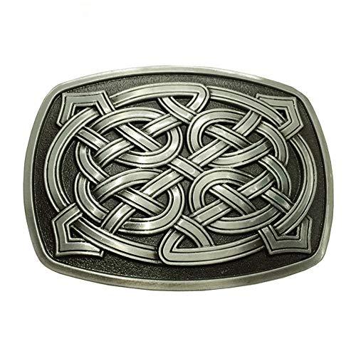 Belt Buckle, Rectangle Celtic Knot Kilt Belt Buckle Western Keltic Buckles for Men Women, American Keltic Irish Scottish Celtic Knot Belt Buckle For Men, Fashion Western Belt Buckle for Men and Women.