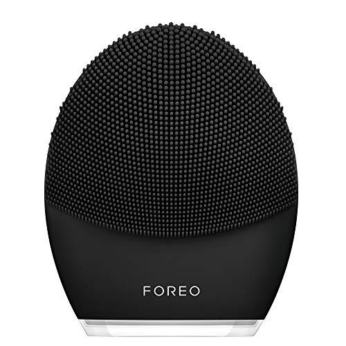 Foreo F9694 - Foreo Luna 3 Men Dispositivo De Limpieza Facial Inteligente Conectado Por App Para Piel Y Barba Midnight, 310 g
