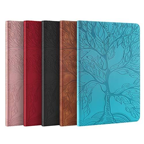AsWant Hüll für Lenovo Tab M10 Plus Lebensbaum Design PU Leder Case Brieftasche Kartensteckplatz Folio Bookstyle Tablet Schutzhülle mit Stifthalter für Lenovo Tab M10 Plus FHD 10,3 Zoll 2020 Blau