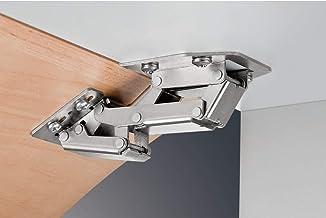 Gedotec Schroefscharnier CH 300 caravanscharnier voor opliggende aanslag, staal vernikkeld, schroefband, deur en klep, gew...