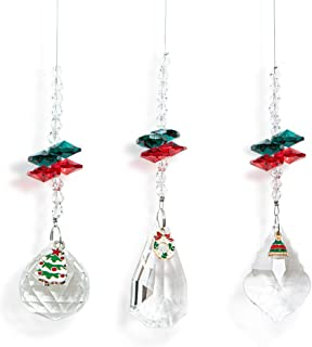 WEISIPU Crystals Ball Prisms Suncatchers - Set of 3 Christmas Prism Pendants Hanging Suncatcher Crystals for Home, Office,...