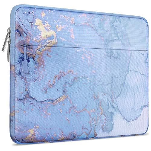MOSISO Laptop Sleeve Compatible with 13-13.3 inch MacBook Pro, MacBook Air, Notebook Computer, Polyester Horizontal Watercolor Marble Bag