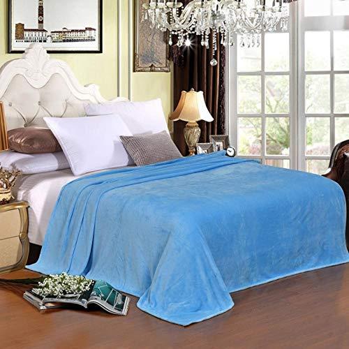 FRTU Plush Blanket Decorative, Lightweight,Flannel fleece soft blanket for cushion/sofa/chair/sofa/lightweight, warm and comfortable-blue_180*200cm