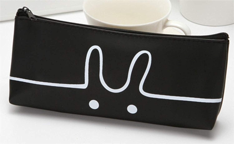 Mon5f Mon5f Mon5f stationery Schreibwaren Zubehör Federmäppchen Simple Style Cat Pattern Federmäppchen Federmäppchen Bleistiftbeutel (Schwarz) B07MVRJ3K6 | Erlesene Materialien  232411