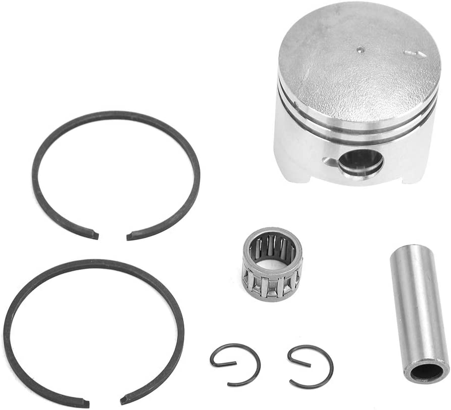 Gorgeri Kit de anillo de pistón, 44mm/1.7in 49cc Mini Moto Dirt Bike Quad Piston & Rings Set (2 tiempos)