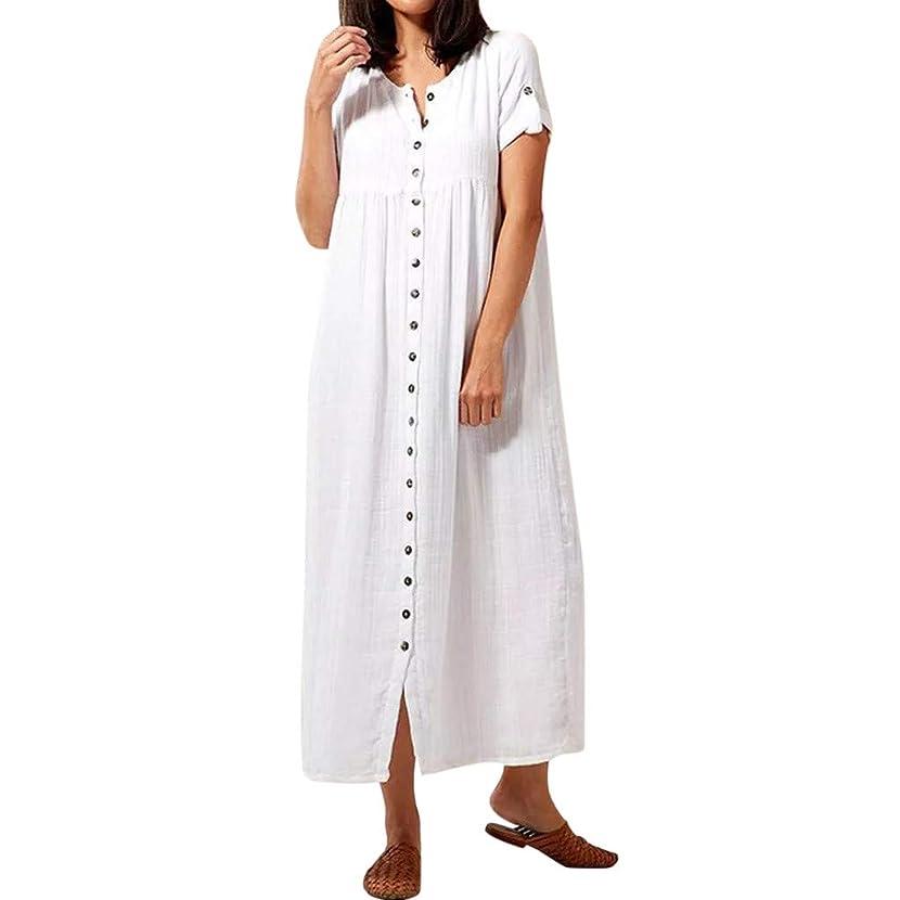 Smdoxi New Summer Women's Shirt Casual Trend Simple Print Short-Sleeved Bohemian Shirt Dress