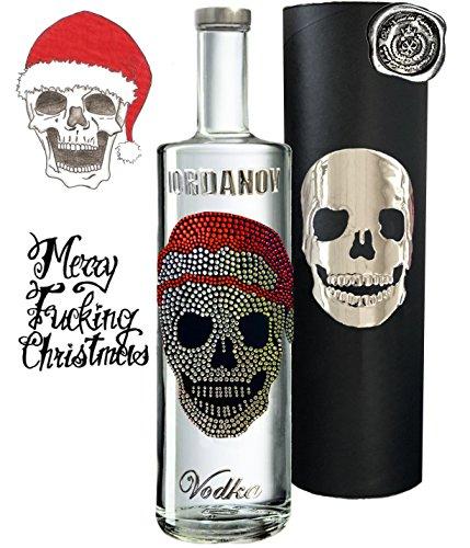 Geschenkset Christmas Skull | Vodka Luxus Designer Wodka Iordanov | Alternative Rotwein oder Gin | Geschenkbox mit original Chrome-Skull | für Männer | Weihnachten Christmas Luxus-Weihnachtsgeschenk Titelbild