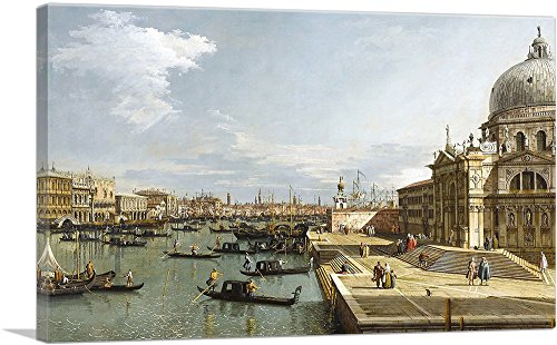 """ARTCANVAS The Entrance to The Grand Canal - Venice Canvas Art Print by Canaletto - 40"""" x 26"""" (1.50"""" Deep)"""