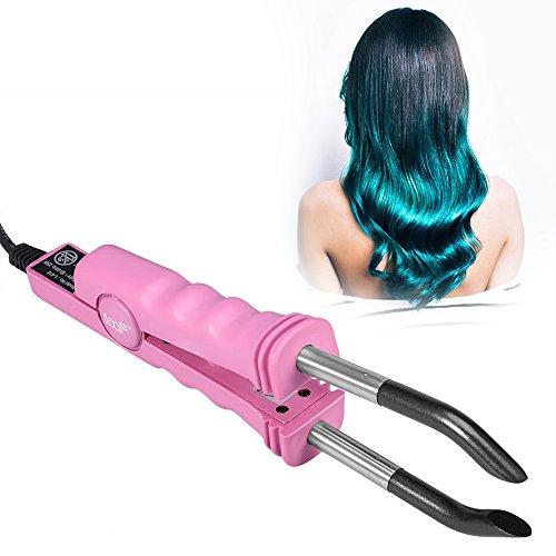 Profi Wärmezange Haar Extensions Iron für Haarverlängerung, Haarverlängerung Stecker Maschine Salon Fusion Eisen Werkzeug Perücke Stecker Werkzeuge Haarstyler(Rosa)