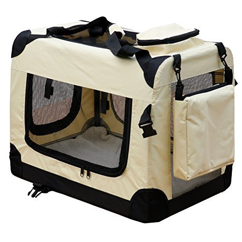 HUNDEBOX TRANSPORTBOX HUNDETRANSPORTBOX HUNDETRANSPORT AUTOKORB HUND KATZE BOX L BEIGE