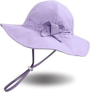 Bow Baby Girls Bucket Hat Infant Toddler Summer Cap Sun Protect Kids Hat for Girls