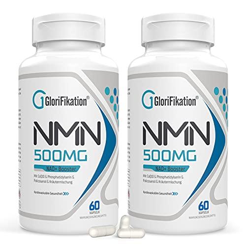 NMN Supplement | 750mg Advanced NMN Enthält alle 7 Inhaltsstoffe in 1 Kapseln | NMN 500mg mit 100mg Coenzym Q10 zur Unterstützung der Allgemeinen Gesundheit NAD + Booster für Anti-Aging | 120 Kapseln