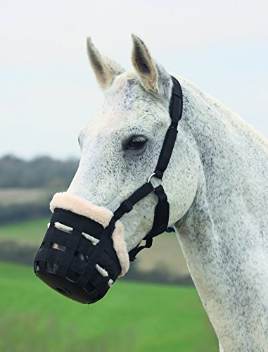 Shires Deluxe Comfort Grazing Muzzle Small Pony Black