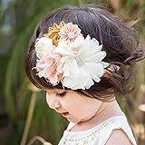 Kercisbeauty Bandeau pour bébé Fait main par Convient pour enfant et fille Fleurs et dentelle Bandeau réglable Style princesse...
