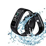 Smart Bracelet with Body Temperature Blood Pressure Monitor,Activity Tracker with Blood Oxygen and Heart Rate Monitor, Fitness Tracker with Sleep Tracking,IP67 Waterproof Smartwatch for Women Kids Men