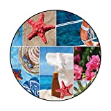 Beach Area Rug Floor Mat for Bedroom Rugs A Collage of Summer Photos 6'7'