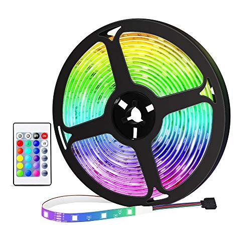 Tiras LED 3 Metros, REDSTORM Tiras LED USB RGB 5050, Iluminación Multicolor, 16 Colores Estáticos y 4 Modos de Brillos,...
