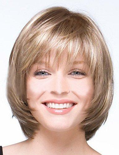 Peluca de pelo sintético de alta calidad, a la moda europea y americana, alta calidad, peluca de alambre de alta temperatura, pelucas a la moda en venta baratas
