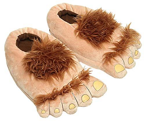 Taodyans Indoor Herbst Winter Hausschuhe Damen Rutschfeste Warme Hausschuhe Lustige Hausschuhe Slippers Indoor Baumwolle Hausschuhe (Hobbit, L)