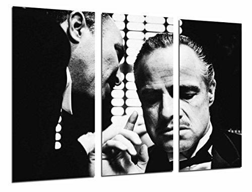 Cuadros Camara Fotográfico Cine Antiguo Vintage, Blanco y Negro, el Padrino Tamaño total: 97 x 62 cm XXL