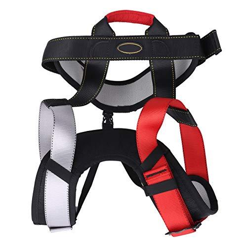 Fockety Arnés de Escalada, arnés de Medio Cuerpo ensanchado y Engrosado con Capacidad de Carga de 120 kg, arnés de Seguridad de Cintura de Cadera de Gran altitud para Exteriores para Escalada, Yoga