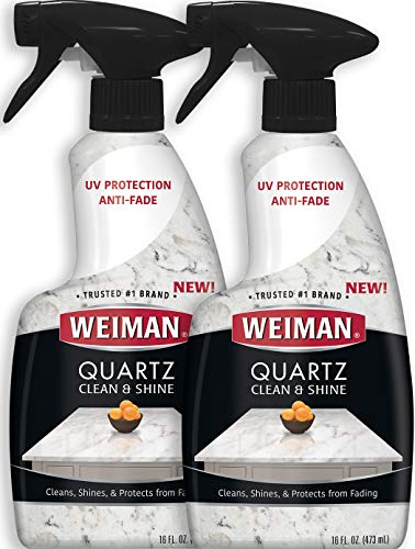 Weiman Quartz Countertop Cleaner and Polish (2 Pack) Clean and Shine...